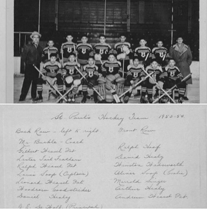 St. Paul's hockey team - with names of players